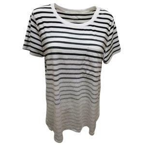 Calvin Klein Striped Split-Hem White Combo 2XLarge